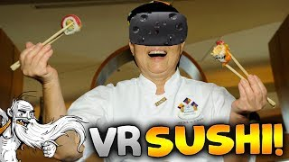 "VR Sushi Bar Gameplay - ""CRAZY SUSHI MADNESS!!!"" HTC Vive Virtual Reality Let"