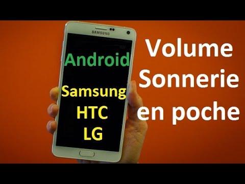 Augmenter le volume de la sonnerie en poche sur Samsung galaxy