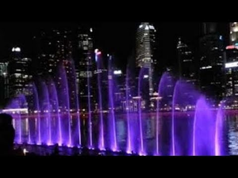 Singapore Marina Bay Sands Waterfront Laser  Show 2017