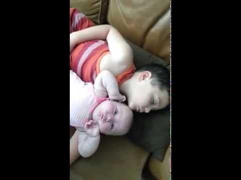 Baby wakes up brother and sister