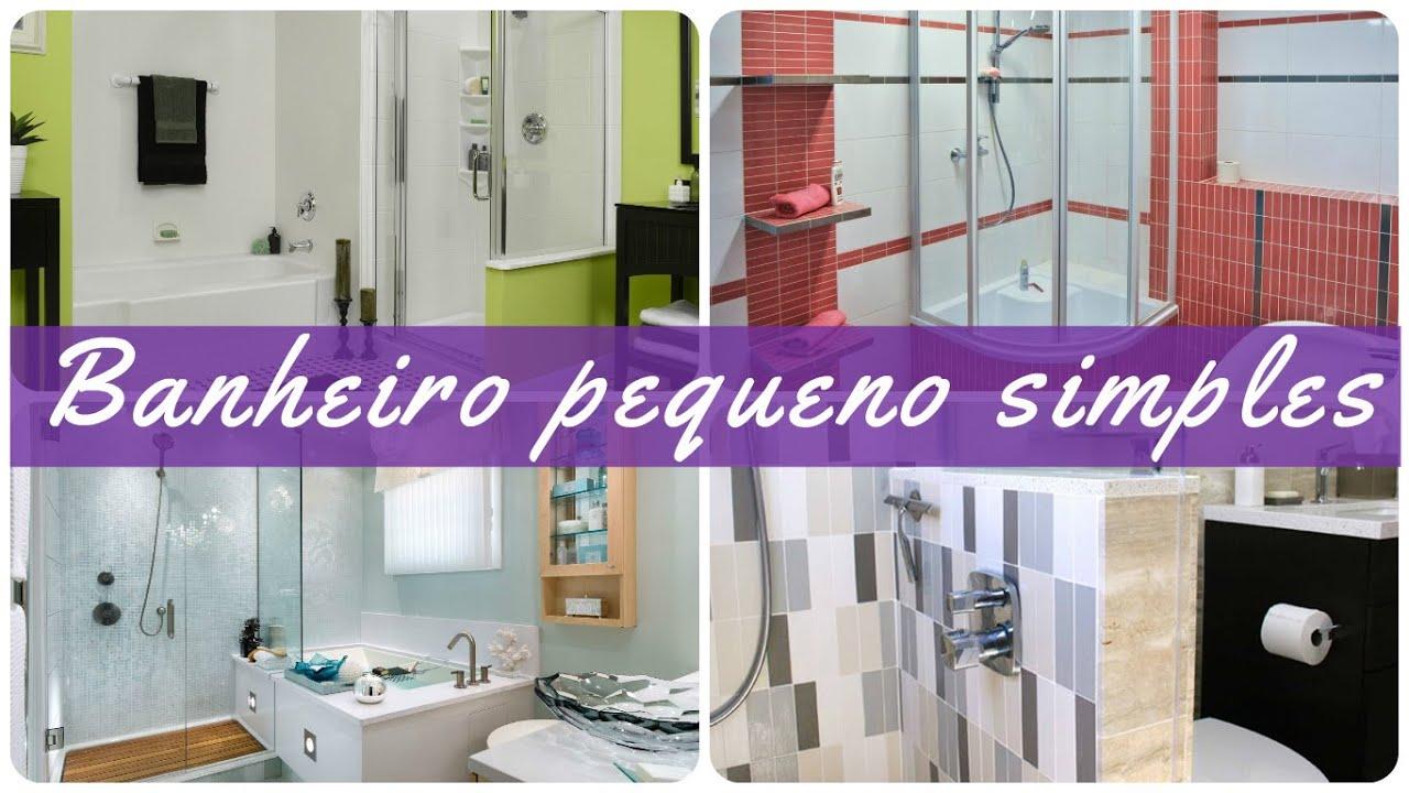 Banheiro pequeno simples YouTube # Decoração De Banheiro Simples E Pequeno