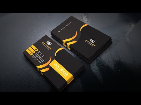 Business Card Design In Photoshop CC  (Back - Orange)