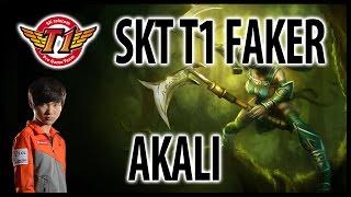 SKT Faker - Akali mid vs. Yasuo - Patch 5.16 challenger solo queue (2015.08.25)
