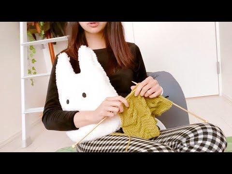モーニングルーティーン[朝の日課]※朝は編み物しません。オシャレに撮りたかっただけです(笑)
