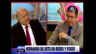 Redes y Poder #entrevista a Hernando de Soto y Yeni Vilcatoma  01-02-2017