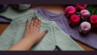 Анонс детский свитер спицами для начинающих на размер 86.