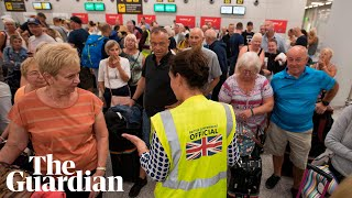 Passengers react to chaos as Thomas Cook collapses