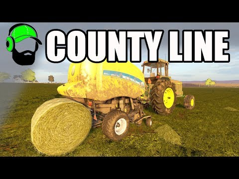 Farming Simulator 17 - County Line - Baling First Cut  #FS17