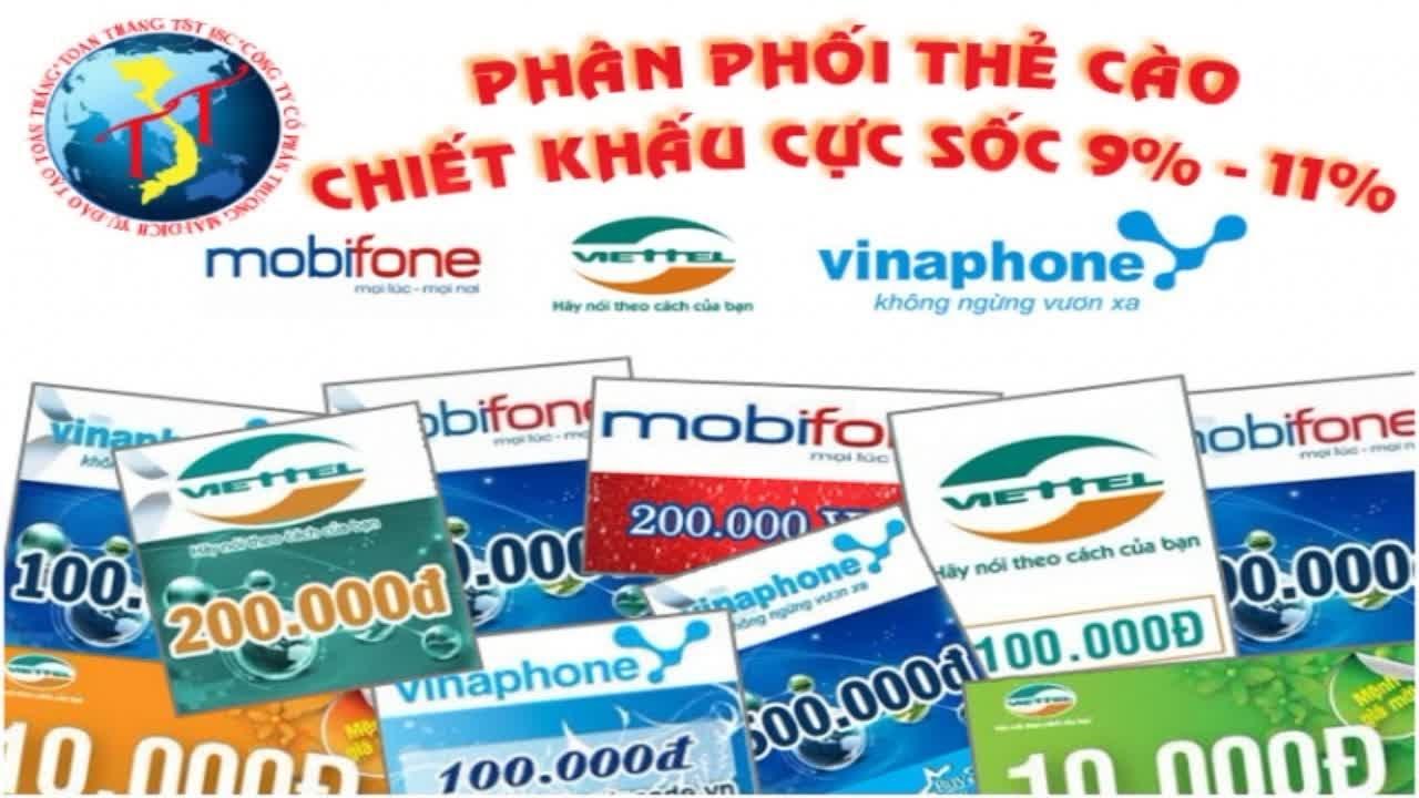 Cần tìm đại lý bán lẻ thẻ cào điện thoại.