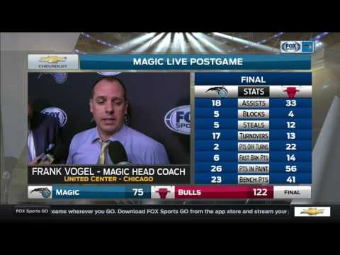 Frank Vogel—Orlando Magic at Chicago Bulls 4/10/17