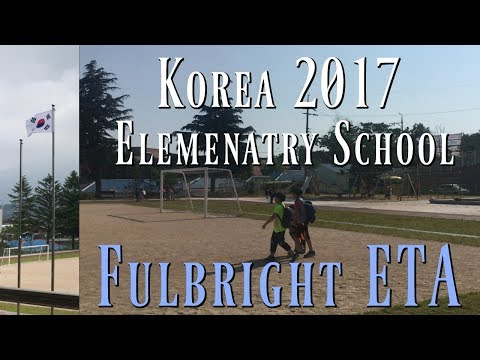 2016-2017 Fulbright Elementary School ETA - South Korea