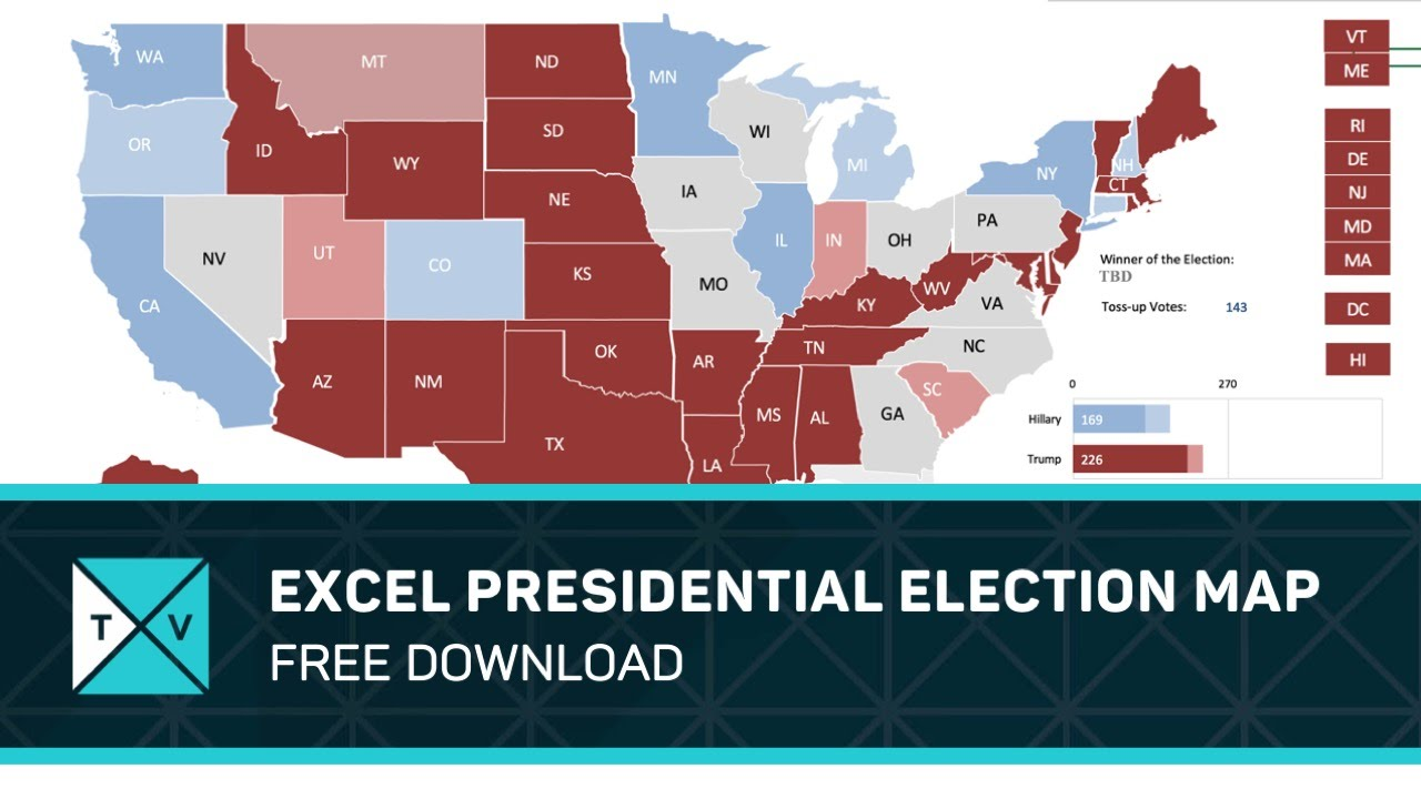 Free Download Excel Presidential Election Map YouTube - Interactive us electoral map