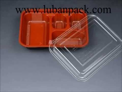 Disposable Meal Box, Rice Box, Manufacturer - Luban Pack