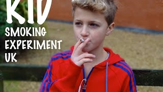 KID SMOKING SOCIAL EXPERIMENT UK