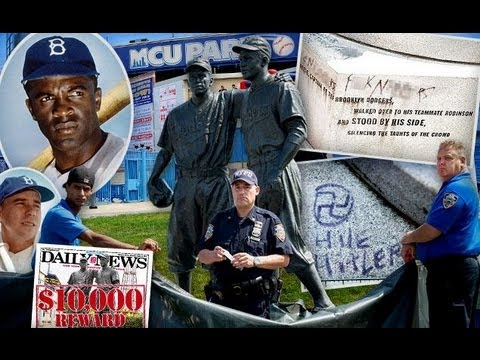 """NI*GER"" Written on Jackie Robinson Statue"
