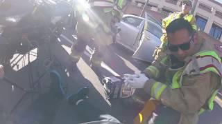 My motorcycle crash. (Car opens door on me)