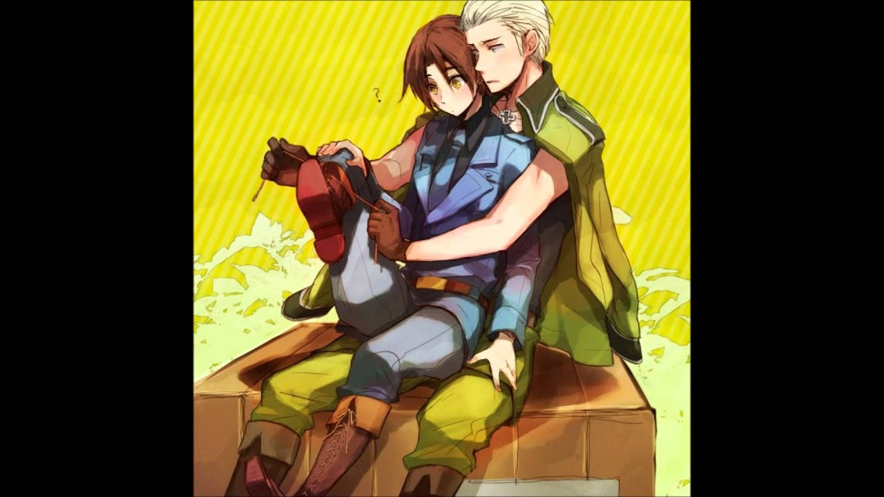 Hetalia Couples Little Moments PruCan/USUK/Spamano/GerIta - YouTube