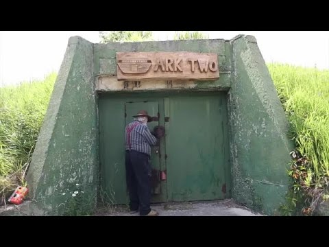 Tour of an underground bunker created from 42 buses