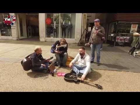Radio Oxford & Bristol Events and Media  Donating a guitar to homeless man