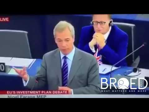 UKIP MEP Ray Finch shows wanker sign to unknown MEP