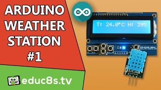 Arduino Project: Temperature and Humidity monitor Tutorial with DHT11 (or DHT22) sensor LCD shield.