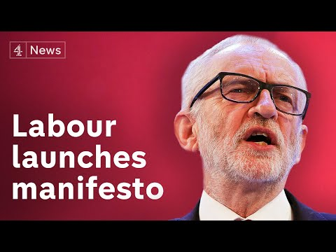 Jeremy Corbyn launches Labour Party manifesto