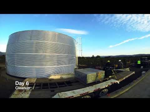 Classic Corrugated Galvanized Water Tank (67,900 Gallons)
