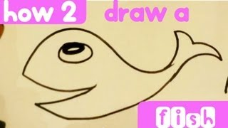 How to Draw a Fish - Easy Pictures to Draw