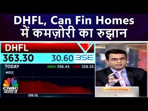 DHFL, Can Fin Homes में कमज़ोरी का रुझान | CNBC Awaaz