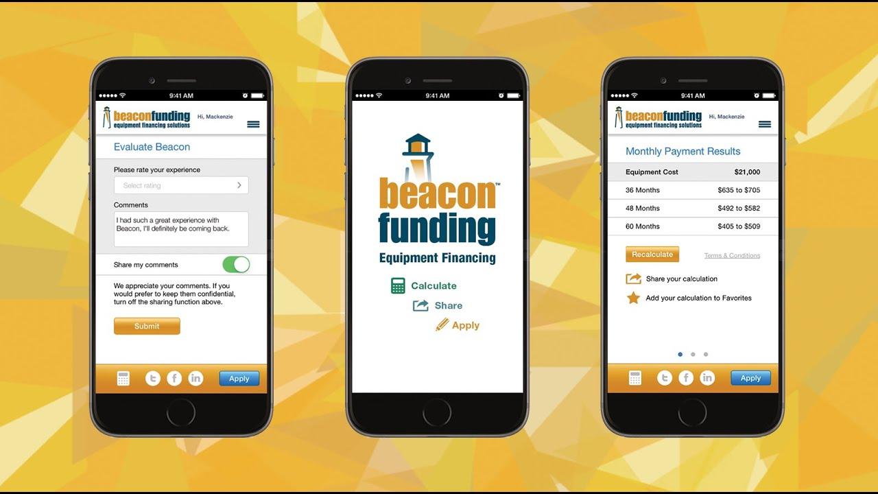 equipment leasing calculator app by beacon funding