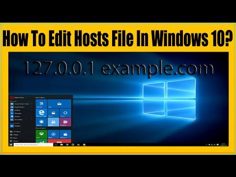 How To Edit Hosts File In Windows 10? Very Easy Method 2016