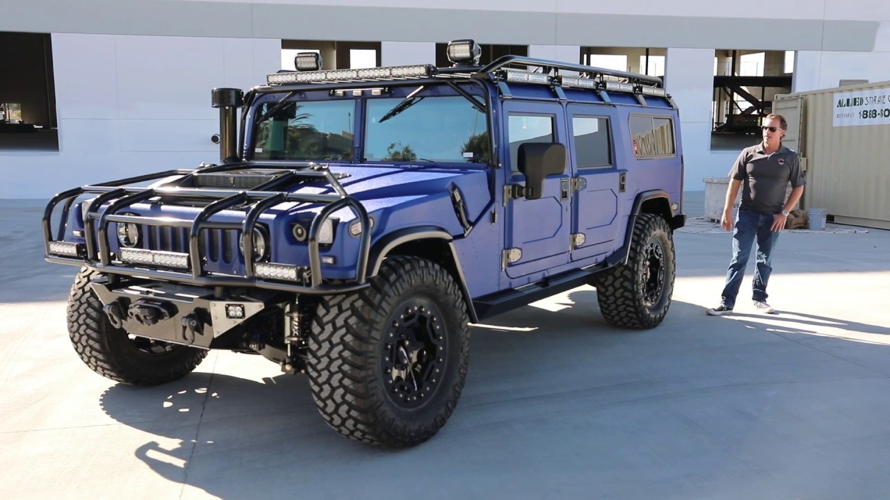 H1 Alpha Hummer with the NEW Full Size 6 passenger seating - YouTube