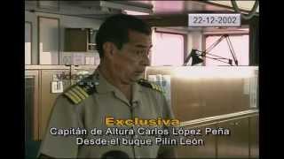 Cap.CARLOS LÓPEZ PEÑA. Capitán del buque Pilín León en el sabotaje petrolero de 2002