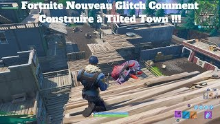 Fortnite New Glitch How to Build in Tilted Town !!!