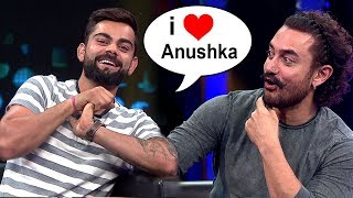 Virat Kohli Finally Accepts Love For GIRLFRIEND Anushka Sharma On Aamir Khan's Secret Superstar Show