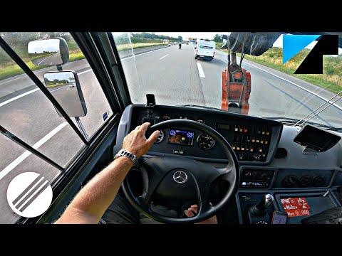 TADANO ATF 220G-5 MOBILE CRANE TOP SPEED DRIVE ON GERMAN AUTOBAHN 🏎