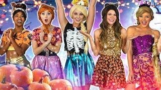 PRINCESS HALLOWEEN POP STARS. (Belle, Rapunzel, Tiana, Anna and ICE QUEEN) Totally TV 2019
