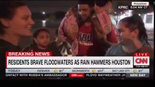 People up to their necks due to Harvey flooding in Houston 1000 plus rescues