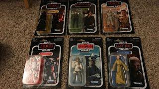 Star Wars The Vintage Collection Wave 1 2018 Unboxing Rey, Kylo, Snoke, Jyn, Hoth Trooper, Etc