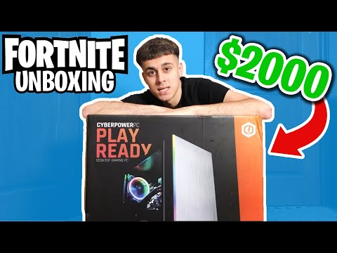 UNBOXING My *NEW* 2020 Fortnite Gaming PC! $2000