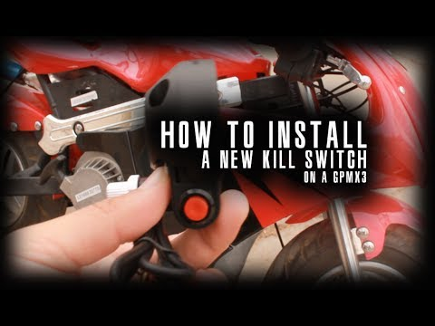 how to install a new kill switch on a gp mx3 pocket bike - tutorial -  youtube