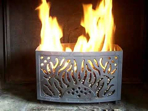 Pellet Basket Modelo Kaminkorb Youtube