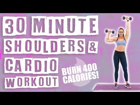 30 Minute Shoulders and Cardio Workout ��Burn 400 Calories! ��