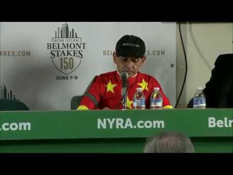 Justify Wins Belmont Stakes 2018 - Mike Smith Post Race Reaction