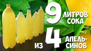 Вкусности: 9 литров сока из 4 апельсинов / Рецепт домашнего сока / МС - разрушитель мифов