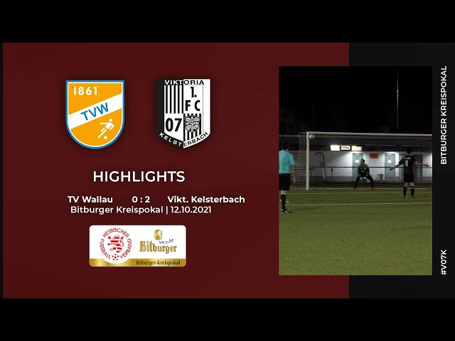 TV Wallau - Viktoria Kelsterbach   Bitburger Kreispokal   Highlights   12.10.2021