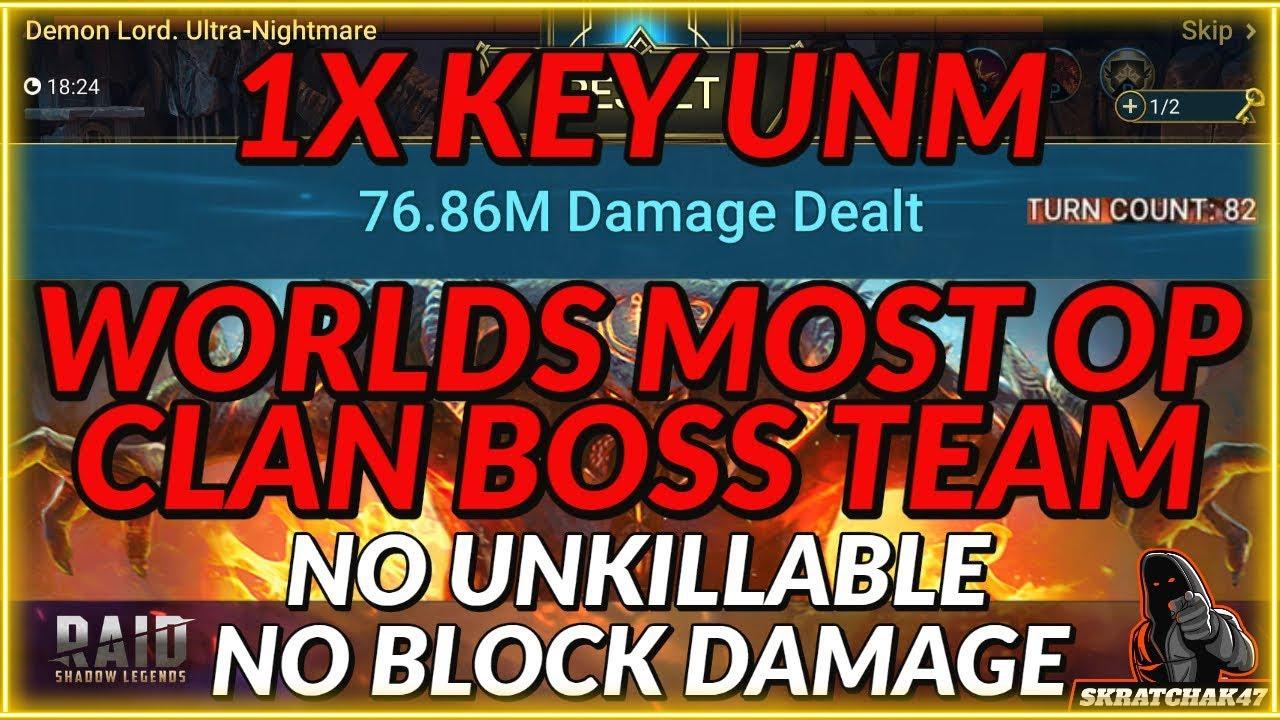 Download 1X Key Ultra Nightmare Clan Boss | Worlds Best Clan Boss Team | Raid: Shadow Legends