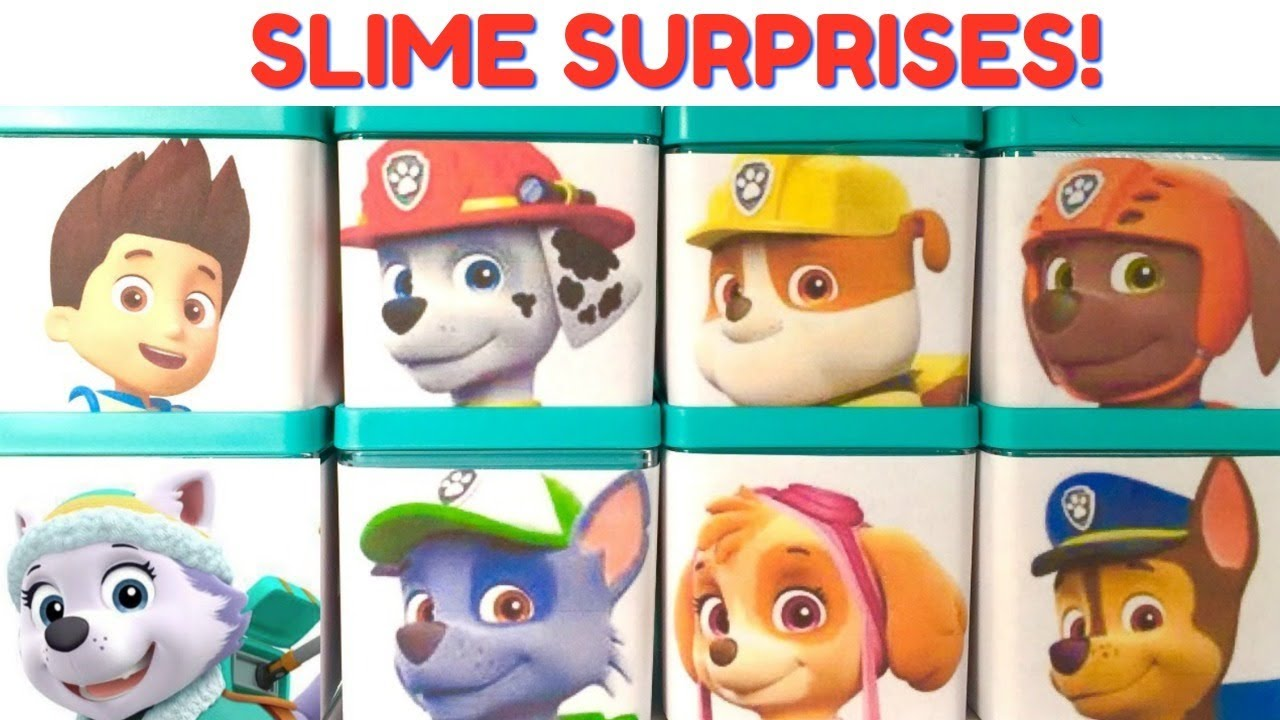 Paw Patrol Kids Toy Organizer Bin Children S Storage Box: Paw Patrol Slime Play Doh Surprise Boxes For Preschool And