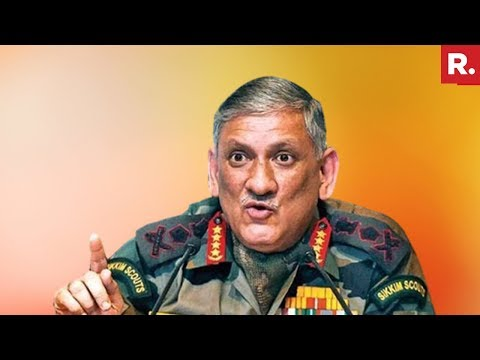 Army Chief Bipin Rawat's Powerful Message For Kashmiris