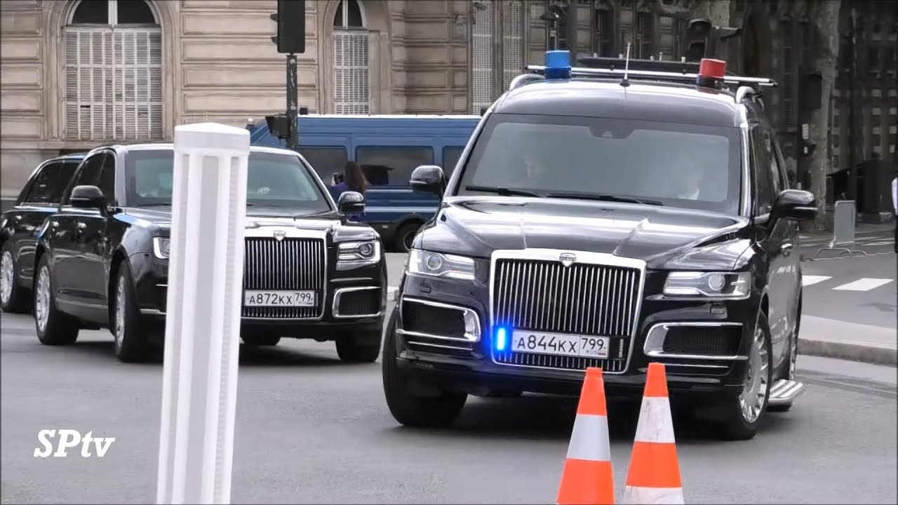 Putin's convoy with new cars